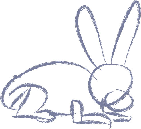 493x453 How To Draw A Rabbit