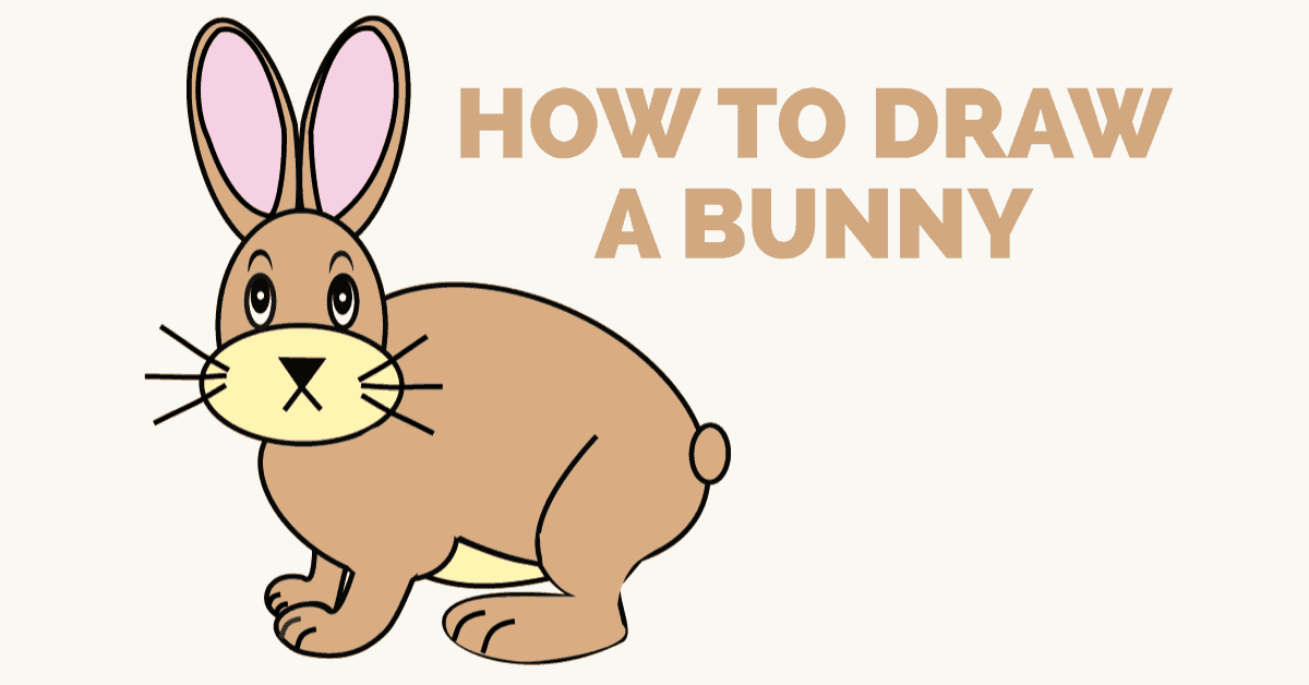 1200x628 How To Draw A Cartoon Bunny In A Few Easy Steps Easy Drawing Guides
