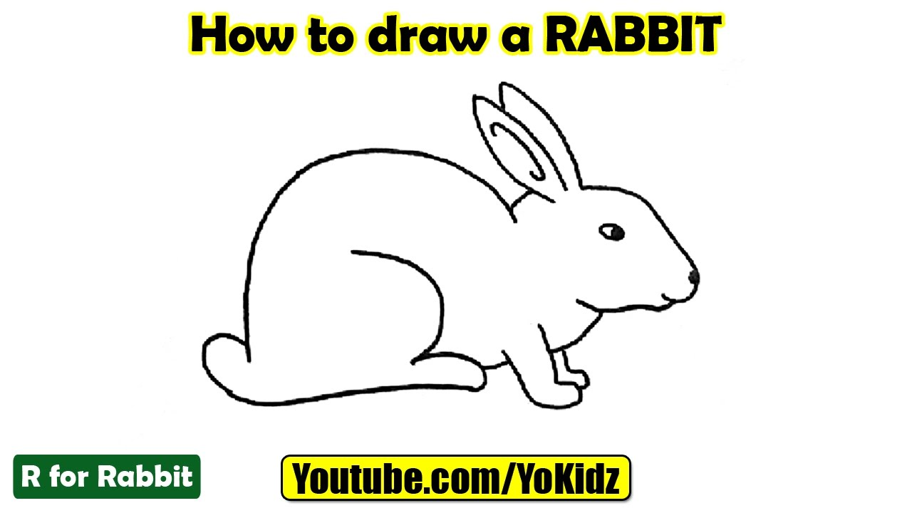 1280x720 How To Draw A Rabbit