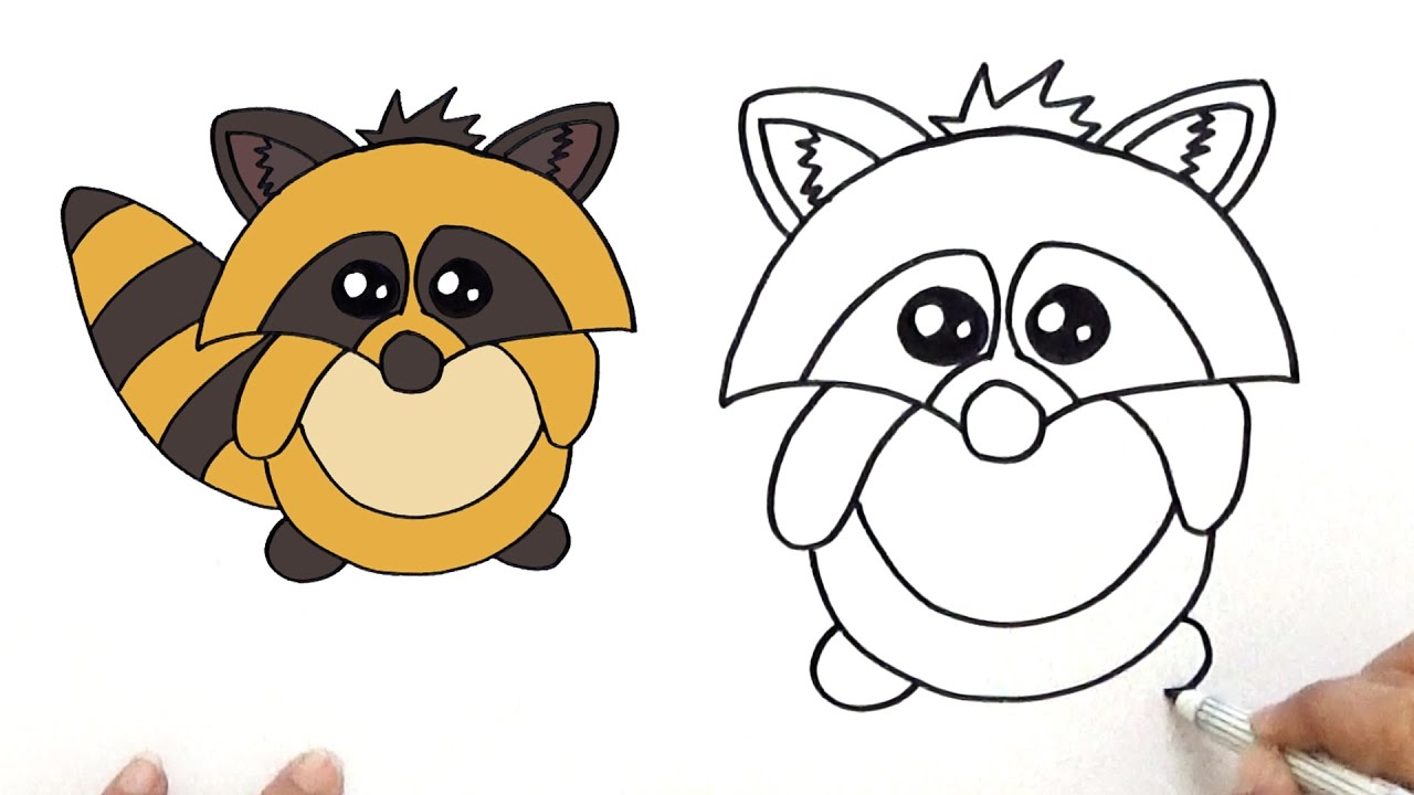 Raccoon Cartoon Drawing at GetDrawings.com | Free for ... Raccoon Drawing Easy