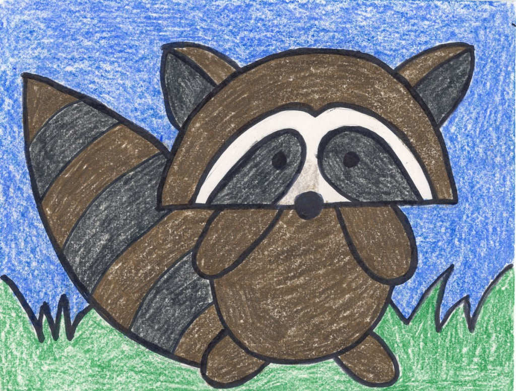 1024x777 Draw A Cartoon Raccoon Raccoons, Kissing Hand And Kindergarten