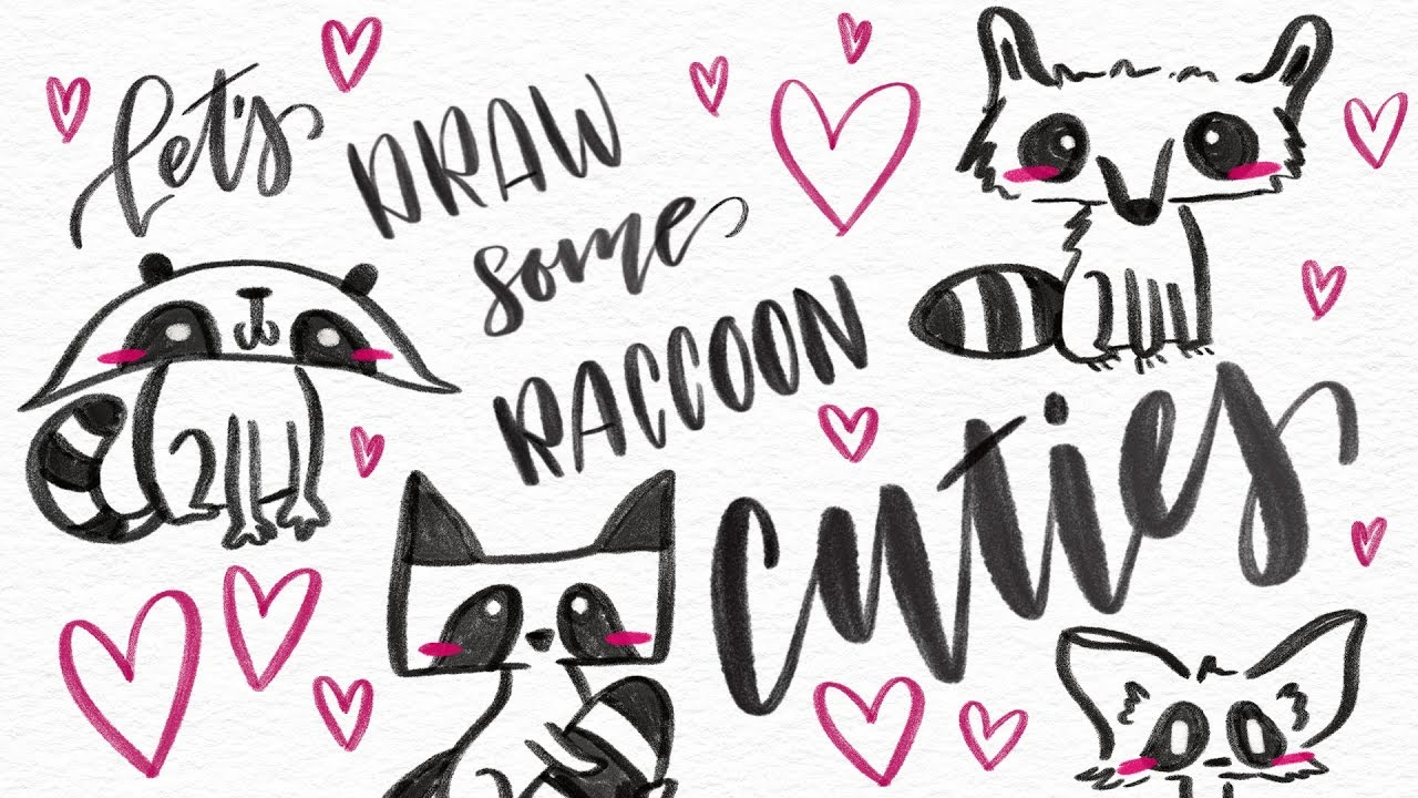 1280x720 How To Draw A Cute Raccoon In 4 Ways! Easy Amp Fun Step By Step