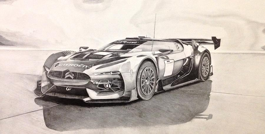 900x457 Citrogen Gt Racecar Drawing By Skincandy Nine