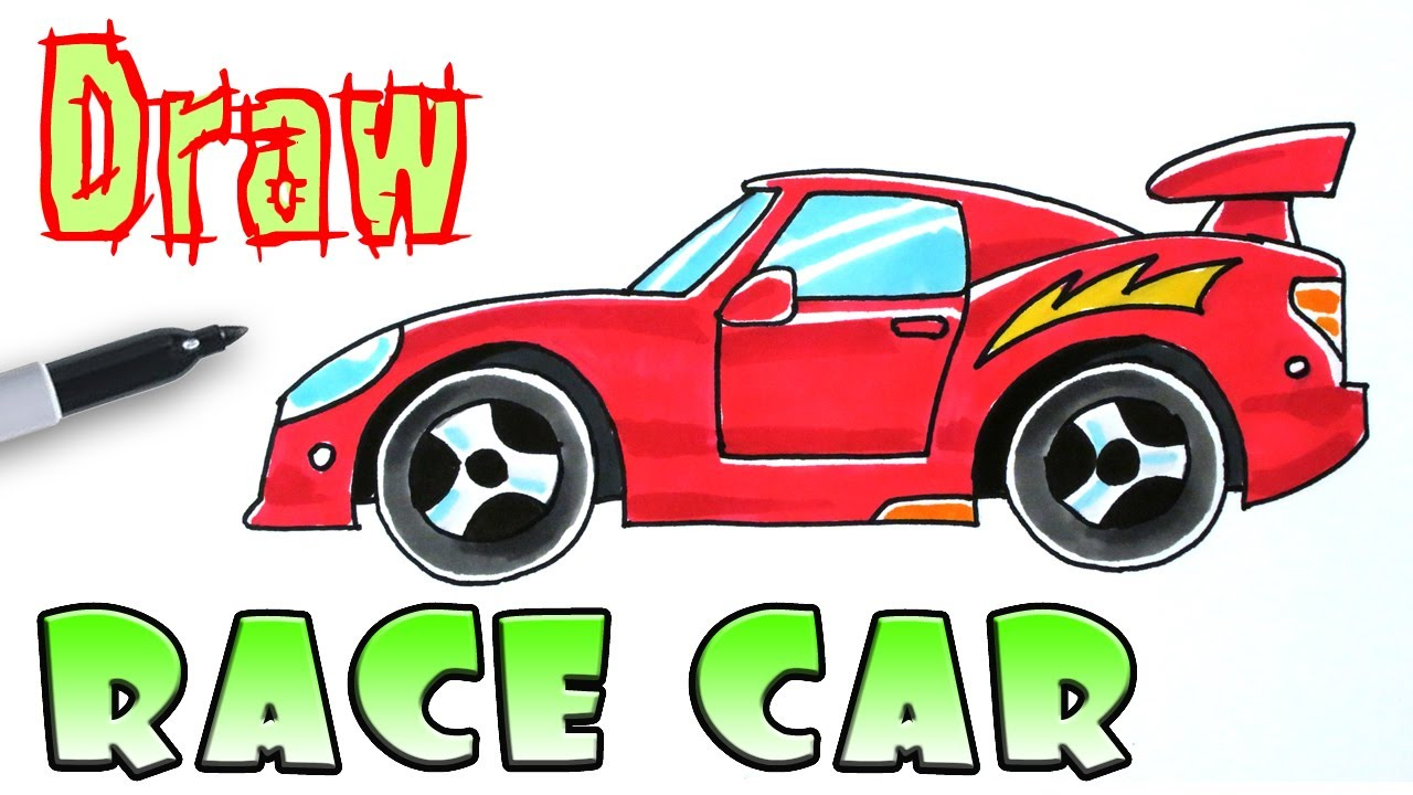 1280x720 How To Draw A Race Car