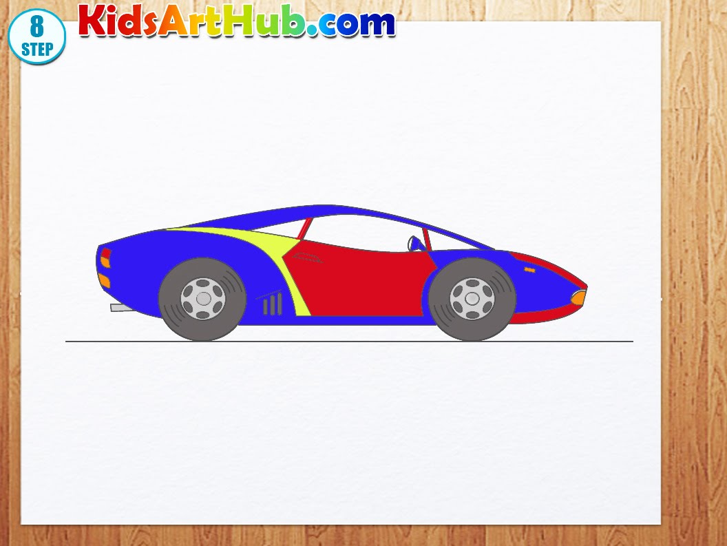 1056x793 How To Draw Racing Car