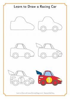 236x333 How To Draw A Cartoon Race Car Cartoon, Cars And Craft