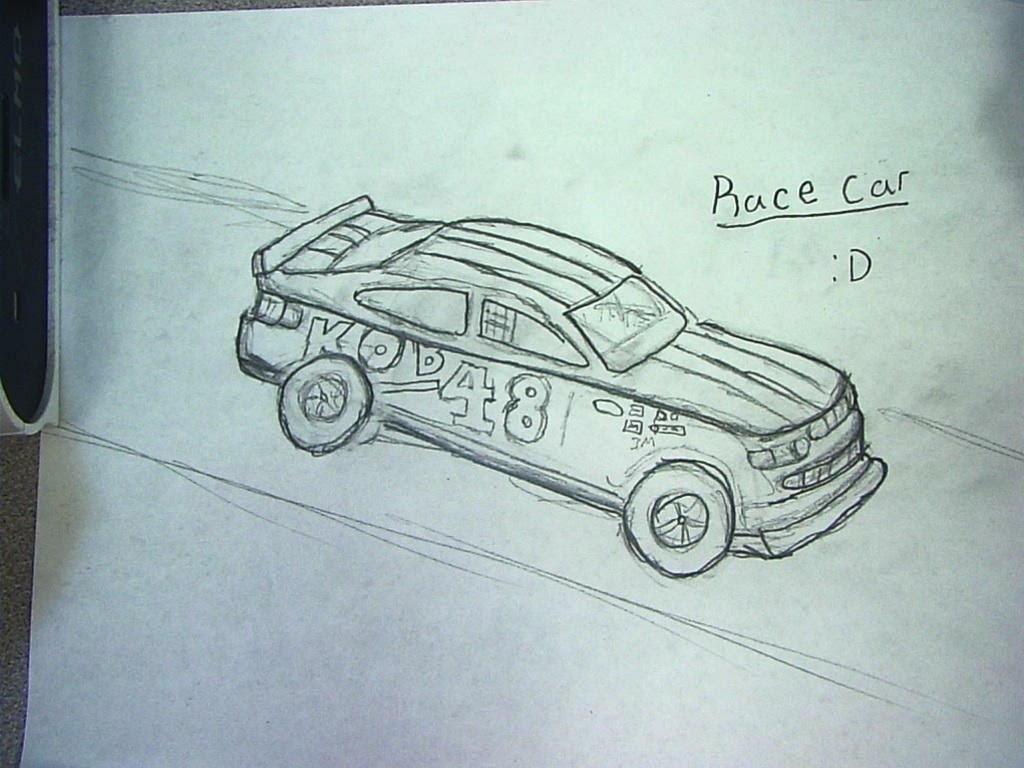1024x768 How To Draw Race Car