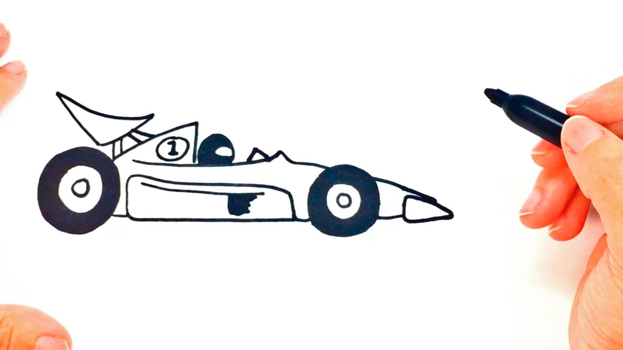 1280x720 How To Draw A Race Car Step By Step Race Car Easy Draw Tutorial