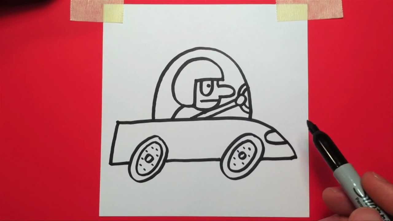 1280x720 How To Draw A Cartoon Race Car