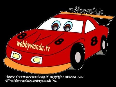 480x360 Webby Wanda How To Draw A Cartoon Race Car Easy Step By Step