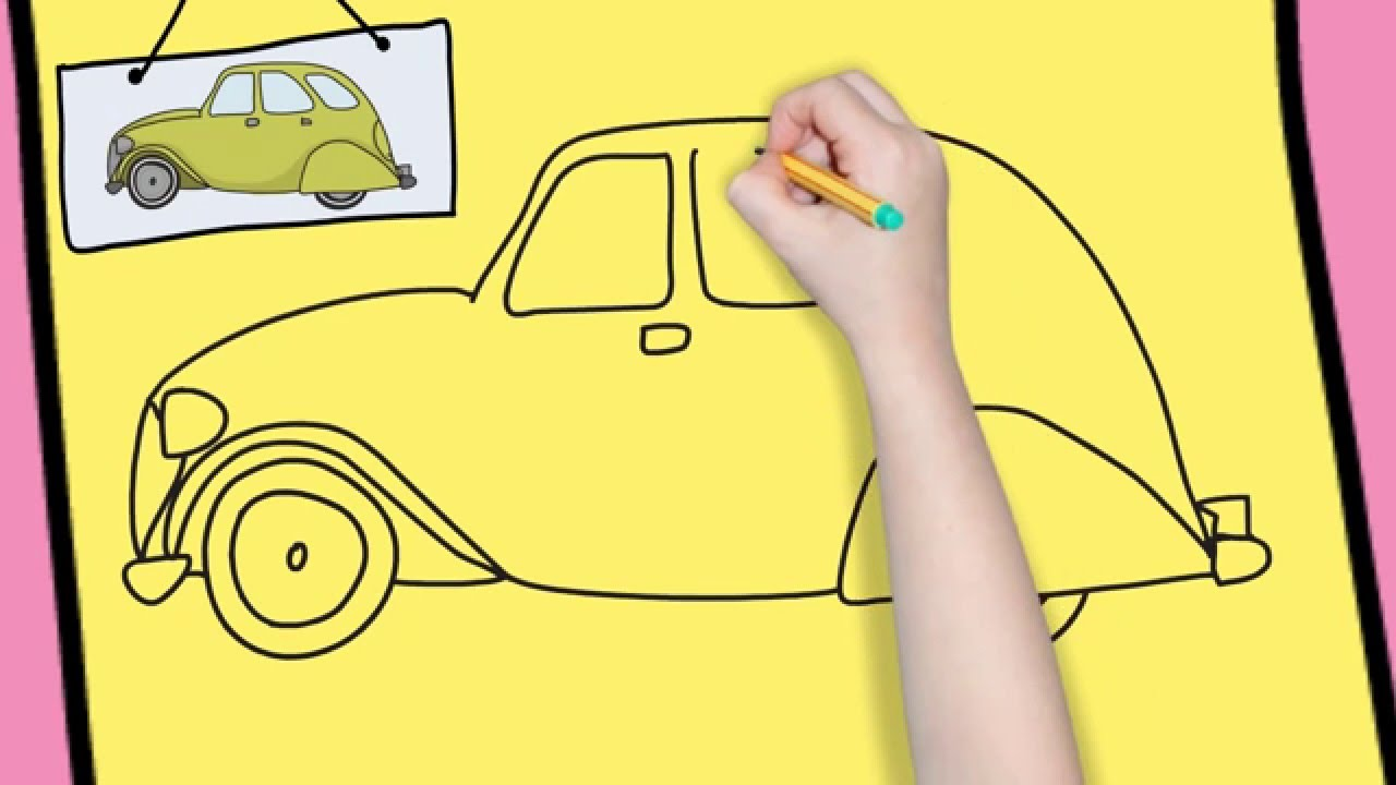 1280x720 How To Draw A Car Easy For Kids