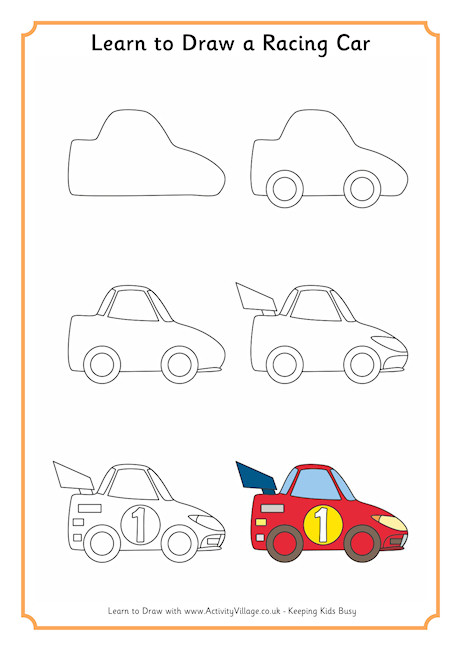 460x650 Learn To Draw A Racing Car 460