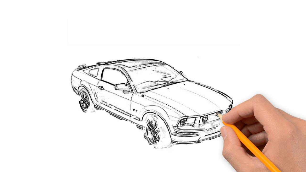 1280x720 Car Drawing Pencil Step To Step Race Car Pencil Things To Draw