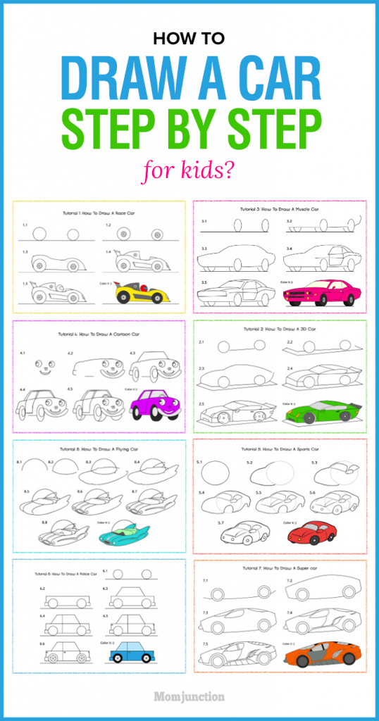 538x1024 How To Draw A Car Step By Step For Kids How To Draw A Race Car
