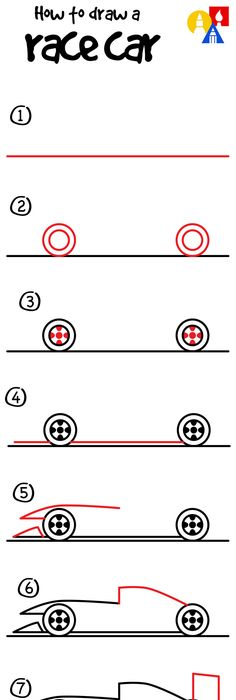 236x700 How To Draw A Race Car For Kids Cars, Drawings And Drawing School
