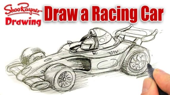 570x320 How To Draw A Race Car Cars Drawings Collection 49