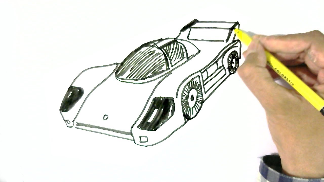 1280x720 How To Draw A Racing Or Sports Car