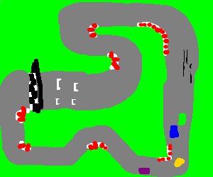 300x250 Aerial View Of Racetrack