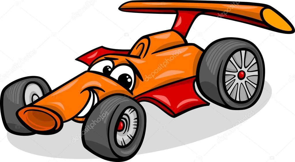 1023x565 Racing Car Bolide Cartoon Illustration Stock Vector Izakowski