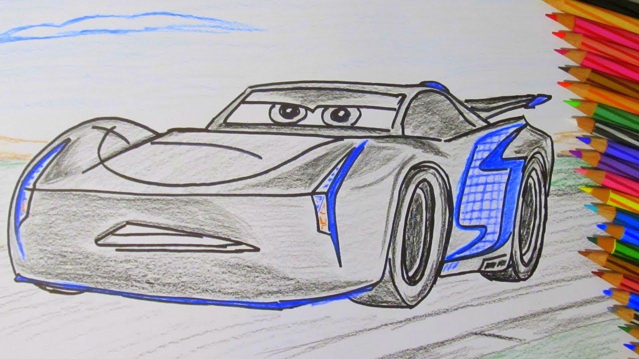 1280x720 How To Draw A Cartoon Disney Pixar Cars 3 Jackson Storm 2017