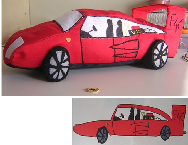 640x496 Turn Your Kid's Racing Car Drawings Into Plush Toys Autoguide