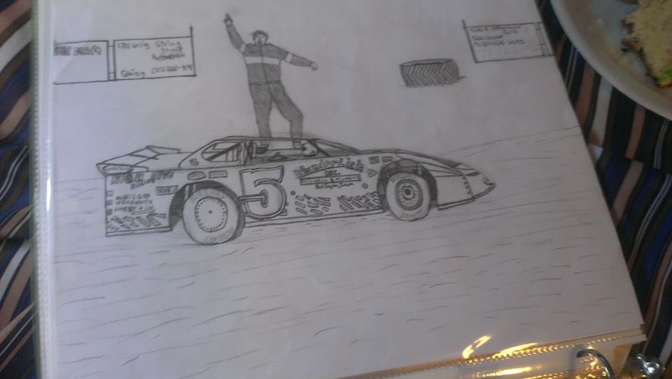 960x541 Dirt Track Car Drawing By Cody Hall Dirt Track Racing