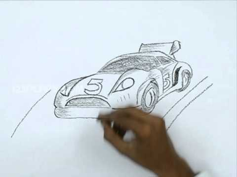 480x360 How To Draw A Racing Car