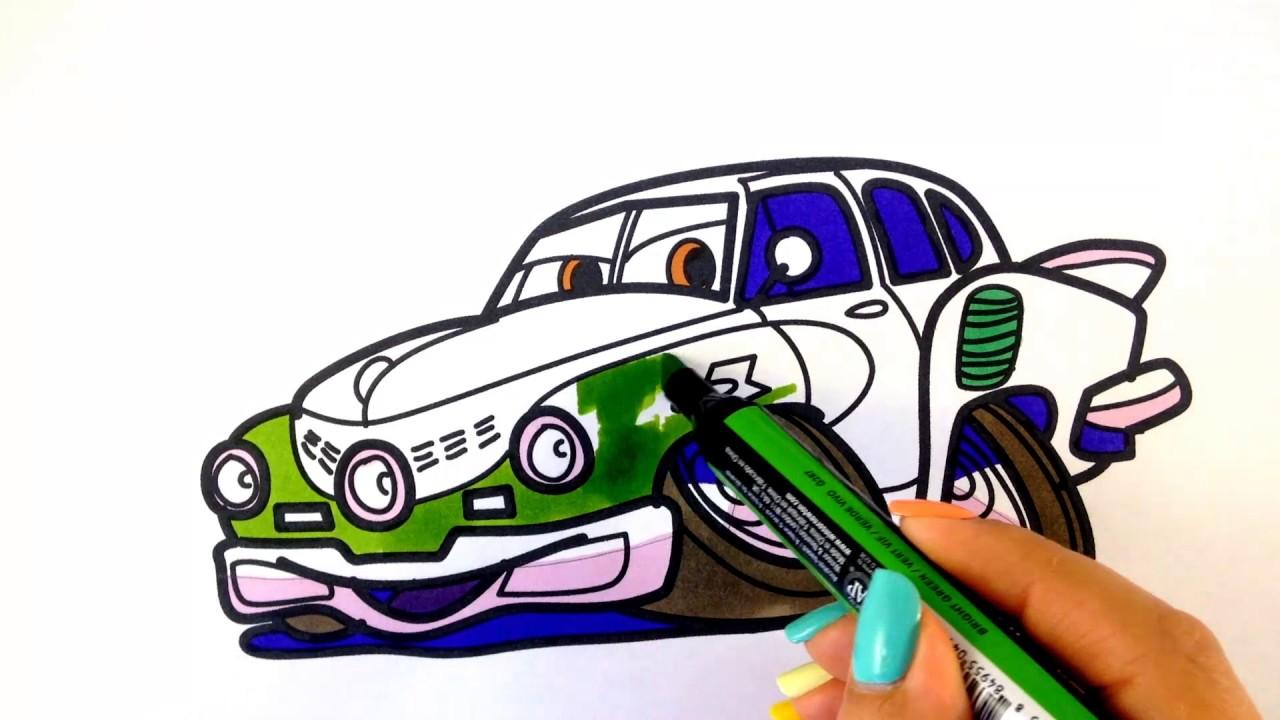1280x720 How To Draw A Car. Tucker Torpedo Crazy Racing Car (Cartoon Cars 3