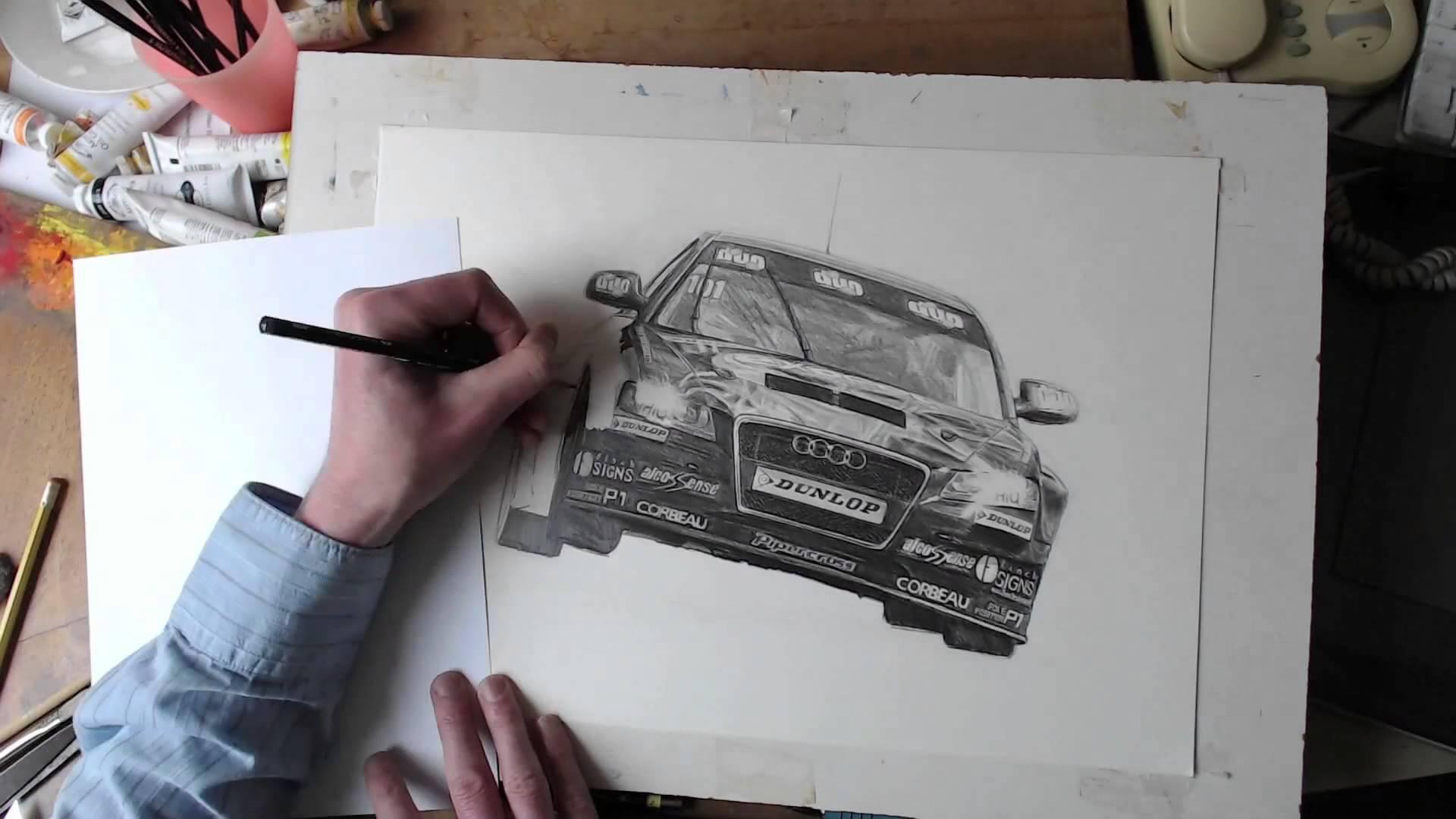 1920x1080 Speed Drawing A Racing Car Audi A4 2014 Btcc Rob Austin Exocet