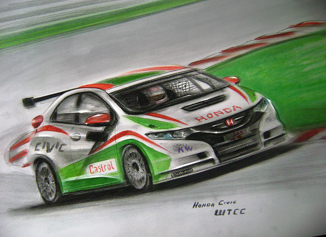 1049x762 Honda Civic Wtcc Drawing By Racing Is My Life