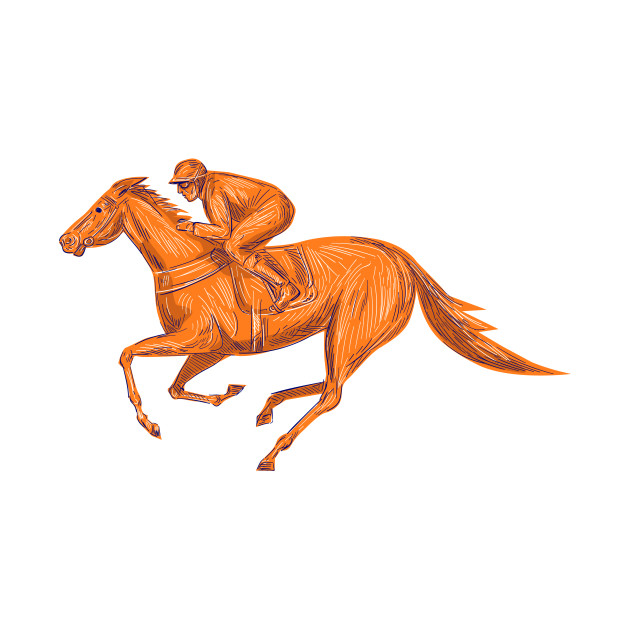 630x630 Jockey Horse Racing Drawing