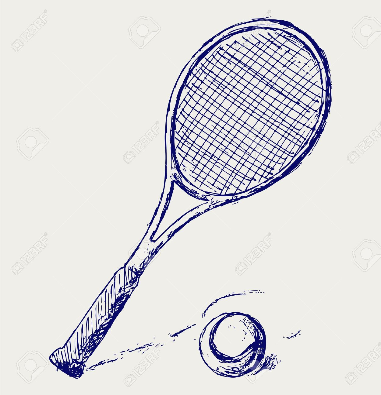 1251x1300 A Tennis Racket And Ball Royalty Free Cliparts, Vectors, And Stock