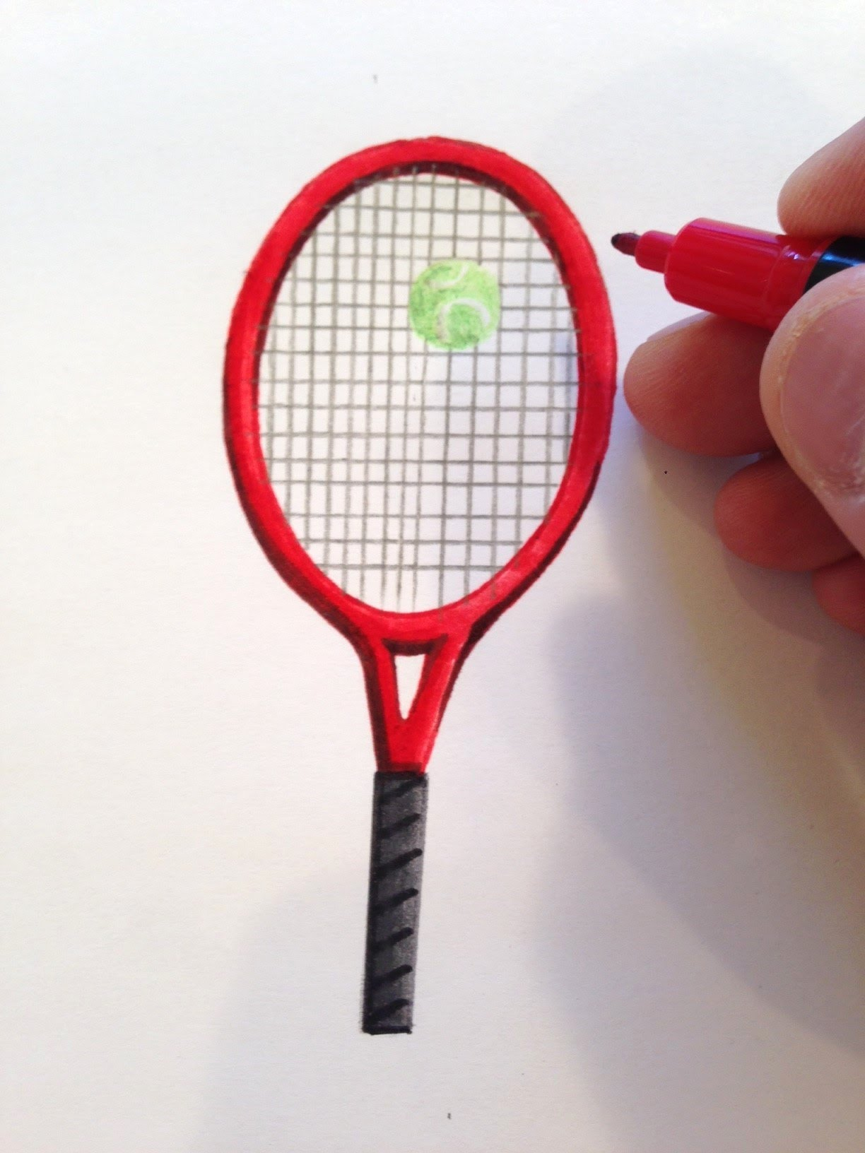 1224x1632 How To Draw A Tennis Racket