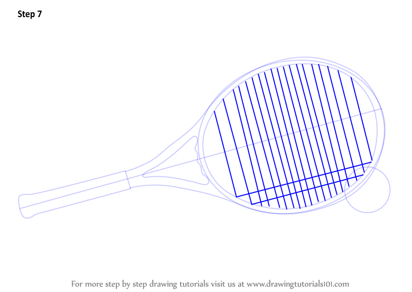 844x598 Learn How To Draw Tennis Racket And Ball (Other Sports) Step By