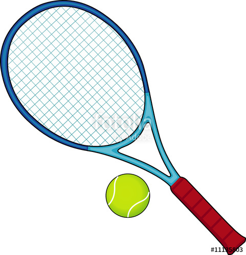 481x500 Tennis Racket And Ball Stock Image And Royalty Free Vector Files