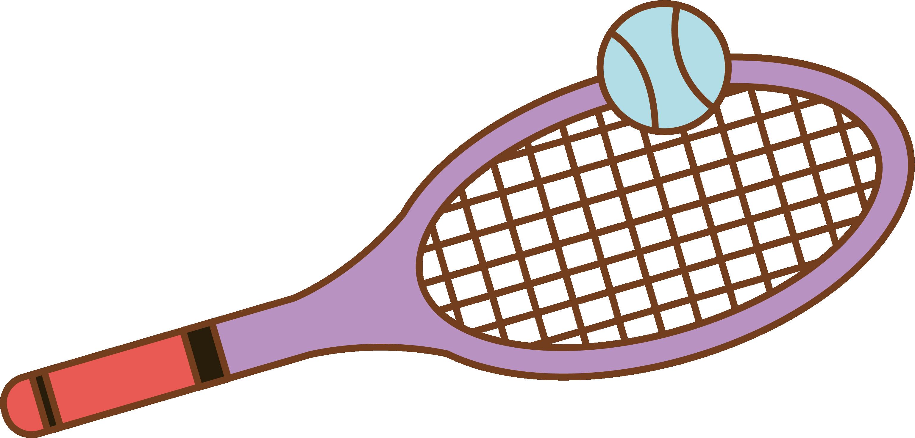 3074x1473 Tennis Badminton Racket Drawing
