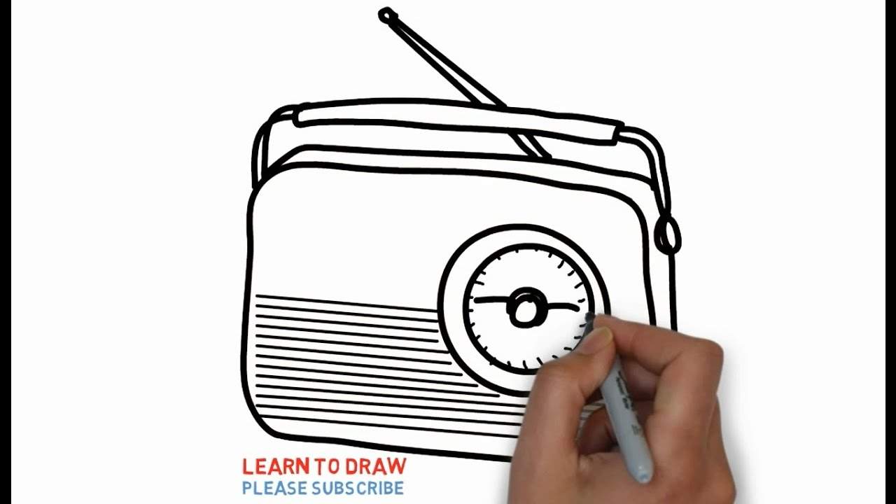 1280x720 Easy Step For Kids How To Draw The Old Radio