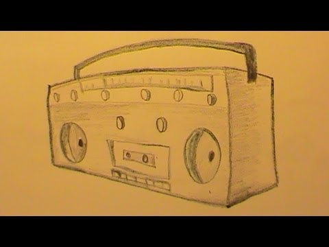 480x360 How To Draw A Radio Quickly (Step By Step)