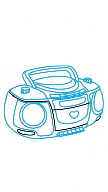 215x382 How To Draw A Radio, Easy Step By Step Drawing Tutorial