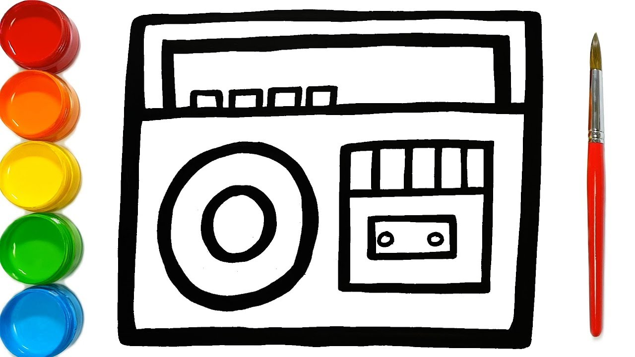 1280x720 Radio Drawing And Coloring With Watercolor Paints Learn Colours