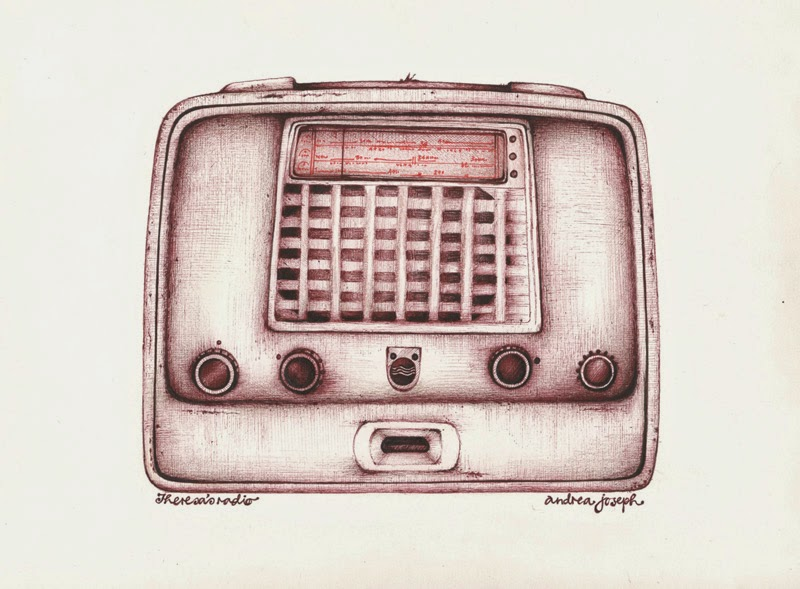800x589 Andrea Joseph's Sketchblog How To Upcycle And Old Radio (Drawing)