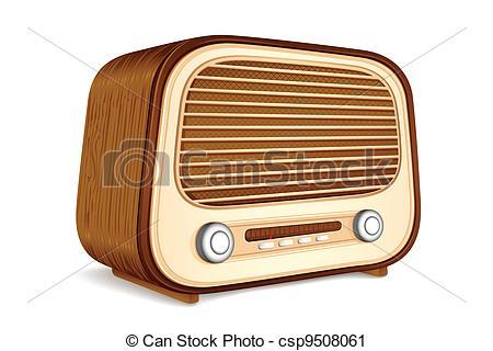 450x320 Old Radio Drawing
