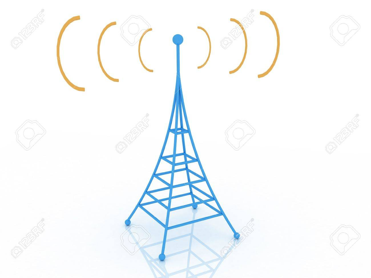 1300x975 3d Render Of Radio Tower. Communication Concept. Stock Photo