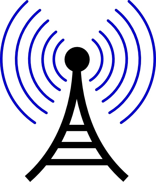 510x595 Radiowireless Tower Clip Art Free Vector In Open Office Drawing