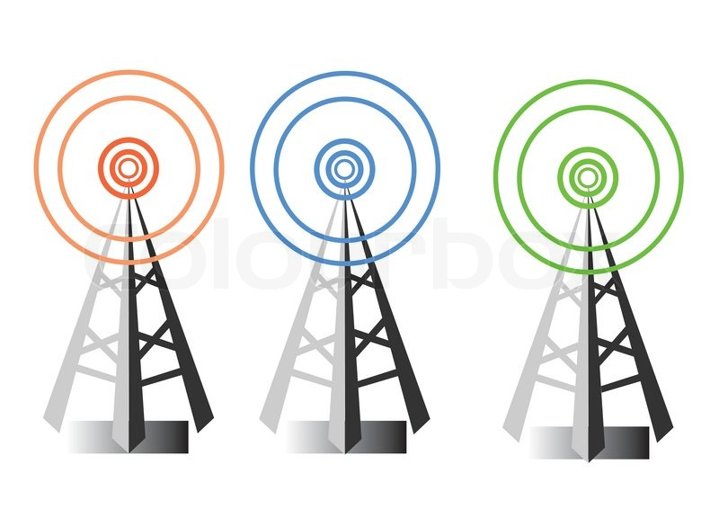 800x566 Vector Design Of Radio Tower Symbols Stock Vector Colourbox