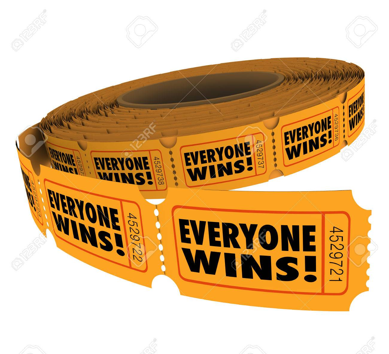 1300x1185 Everyone Wins Words On Raffle Tickets In A Fundraiser Where