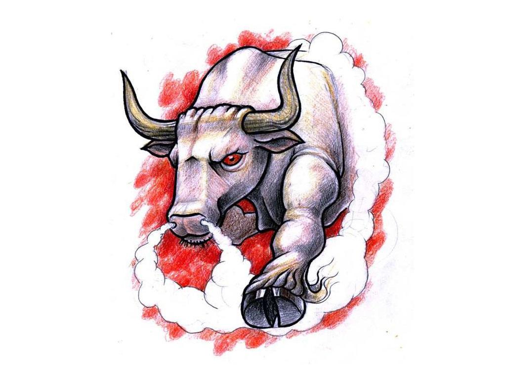 1024x741 Bull Tattoos