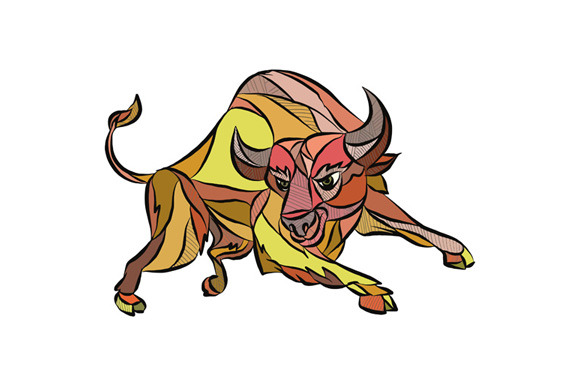 580x386 Raging Bull Charging Drawing Patrimonio, Chargingd