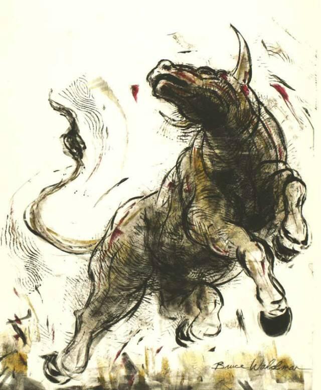 640x777 Raging Bull Illustration Bruce Waldman