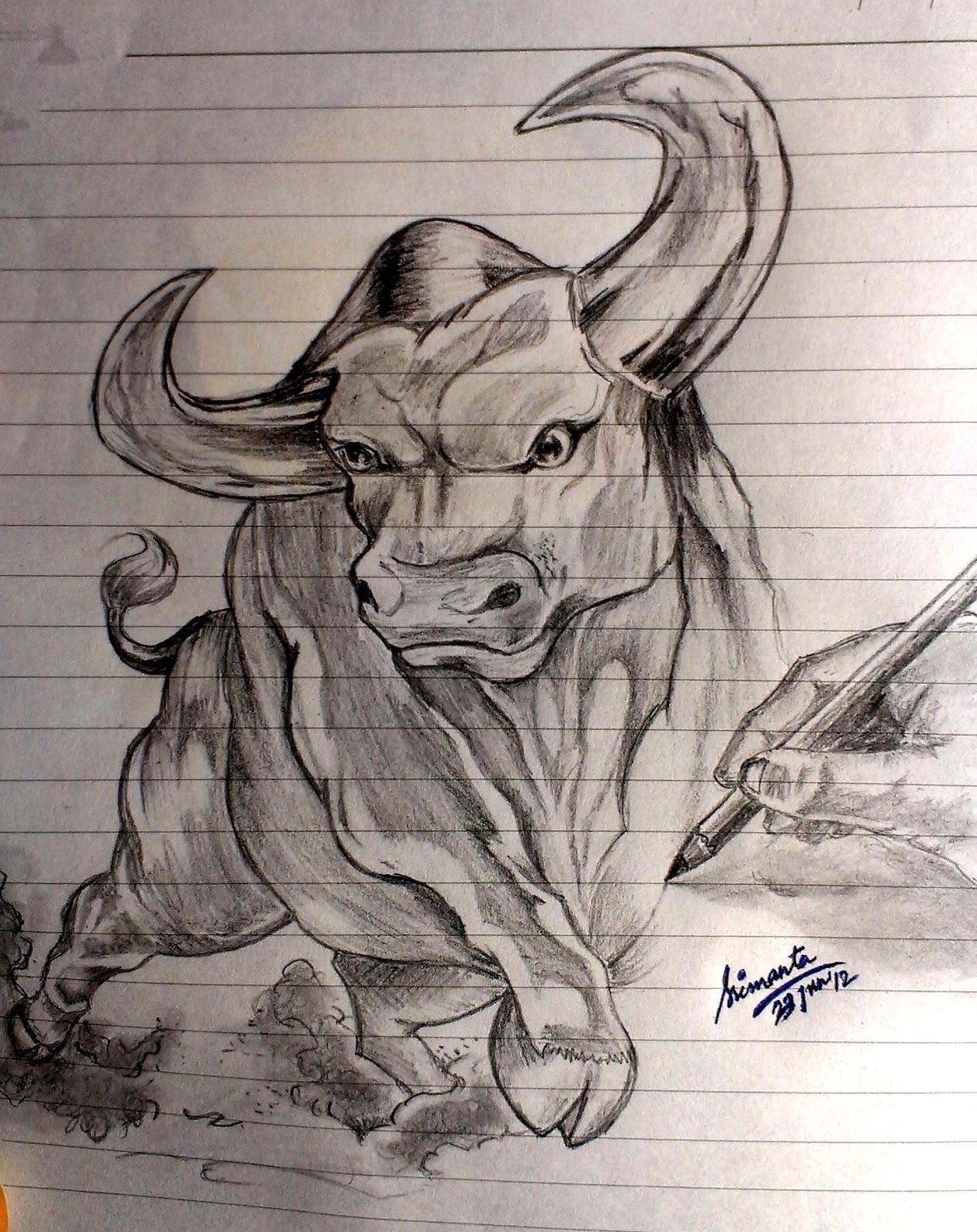1269x1600 Srimant's Sketchbook The Raging Bull